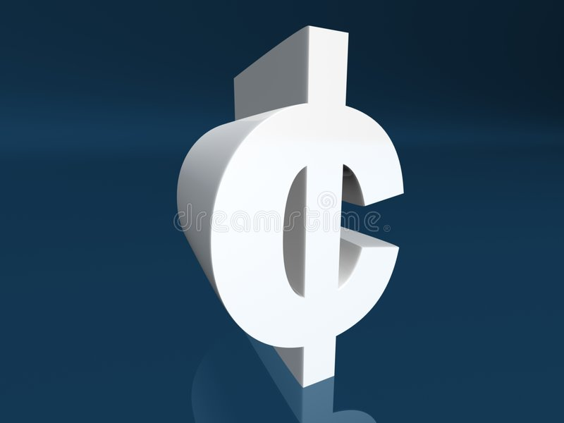 Cent symbol stock illustration