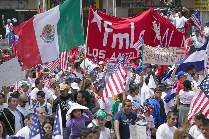 Centaines de milliers d'immigrés photographie stock