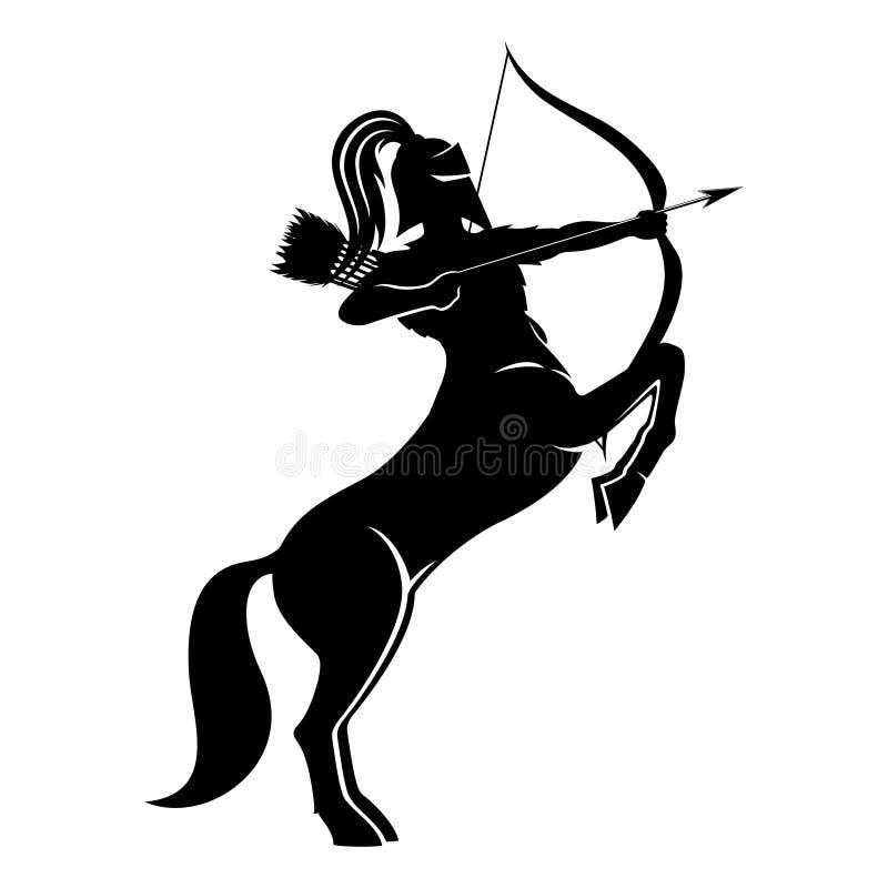 Centaur łuczniczki znak royalty ilustracja