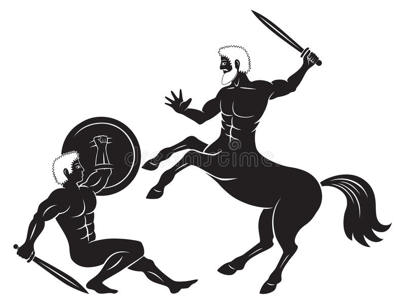 centaur και Hercules διανυσματική απεικόνιση