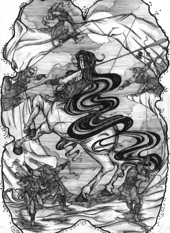 Centaur bloccato illustrazione vettoriale