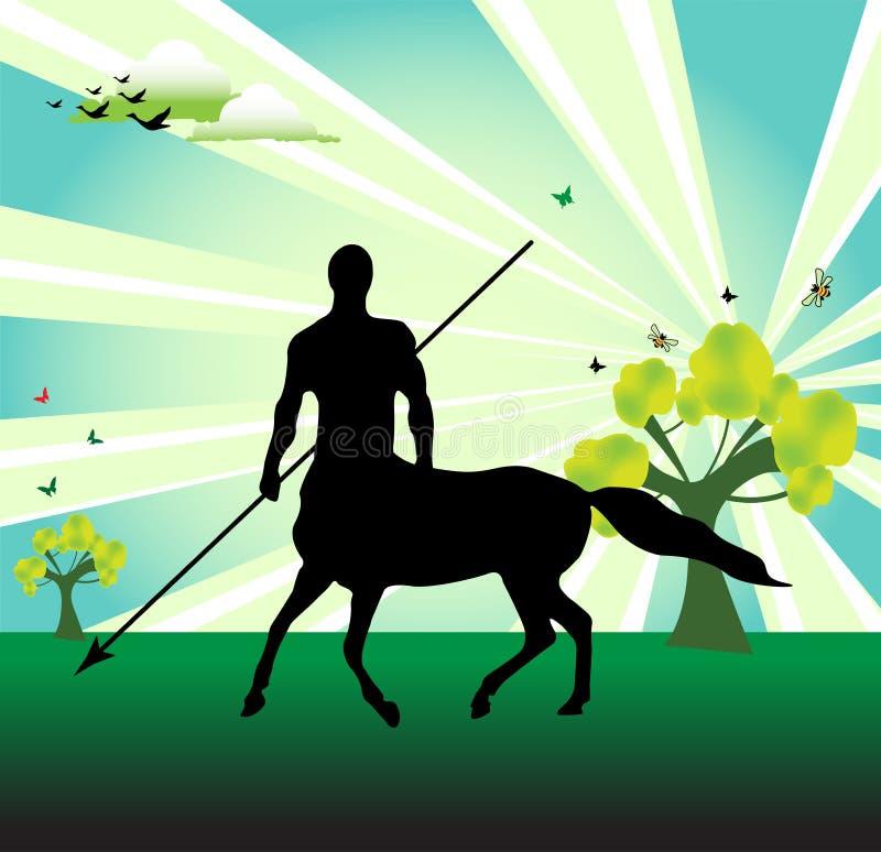Centaur con il germoglio royalty illustrazione gratis