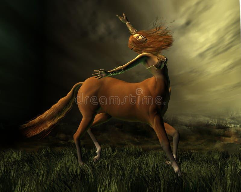 Centaur in het Onweer stock illustratie
