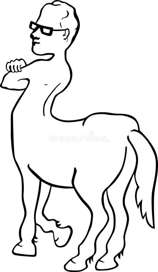 Centaur moderno illustrazione di stock