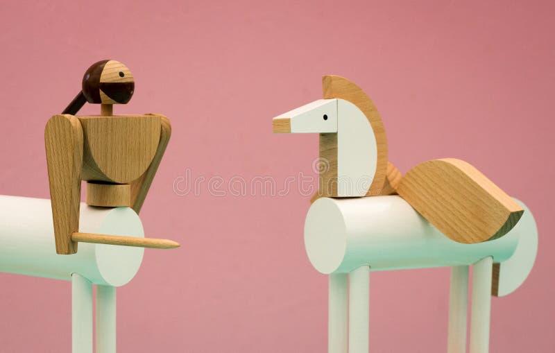 Centaure et jouets en bois de Pegasus photos stock