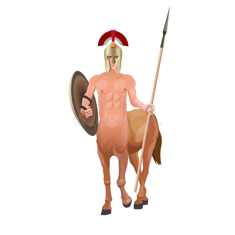 Centauro com lança ilustração stock