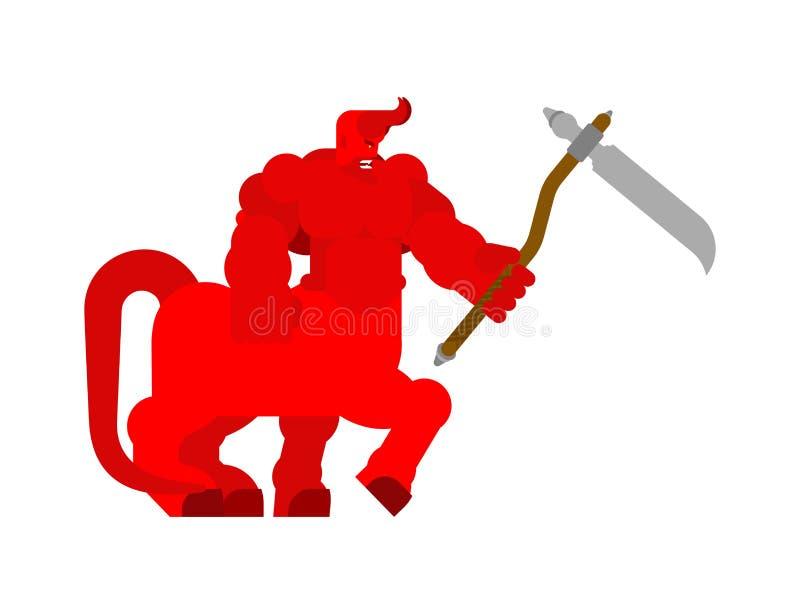 Centauro del demonio con la guadaña Satanás de cuernos Señor potente de Belcebú libre illustration