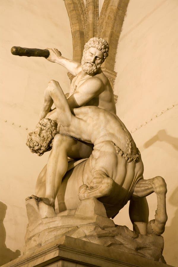 centaurs Φλωρεντία Hercules στοκ εικόνες