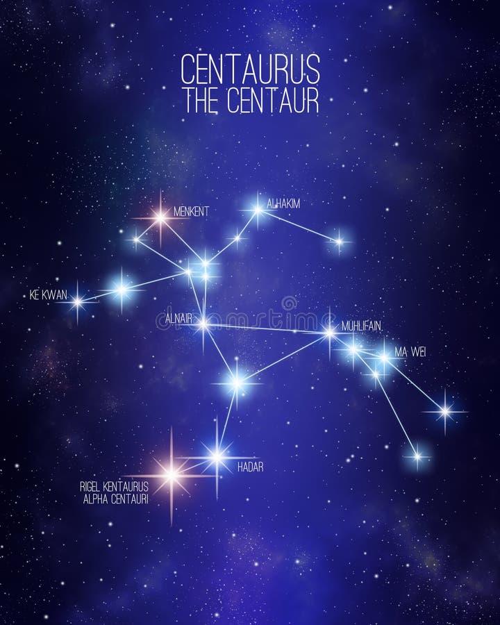 Centaurus a constelação do centauro em um fundo estrelado do espaço ilustração royalty free