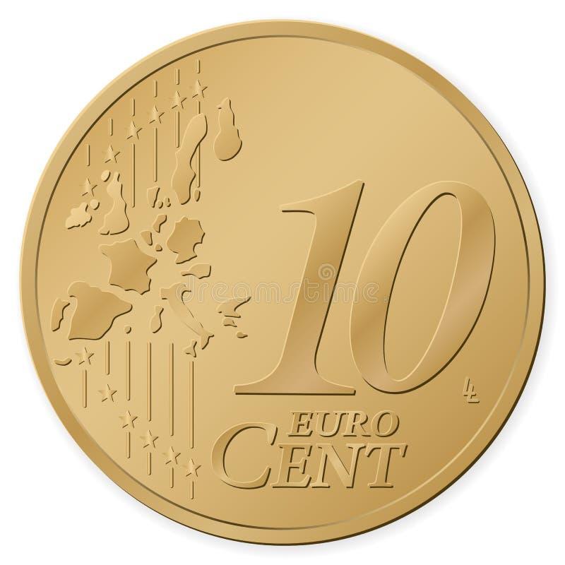 centavo do euro 10 ilustração royalty free