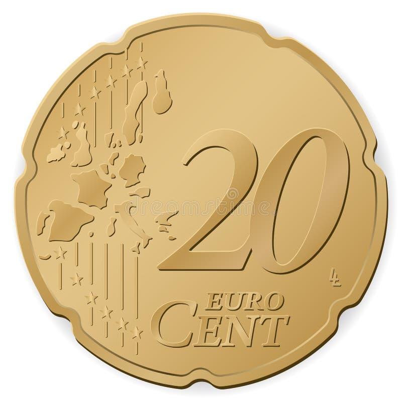 centavo do euro 20 ilustração stock