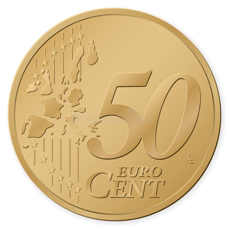 centavo do euro 50 ilustração stock