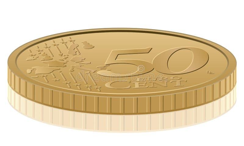 Centavo do euro cinqüênta ilustração stock