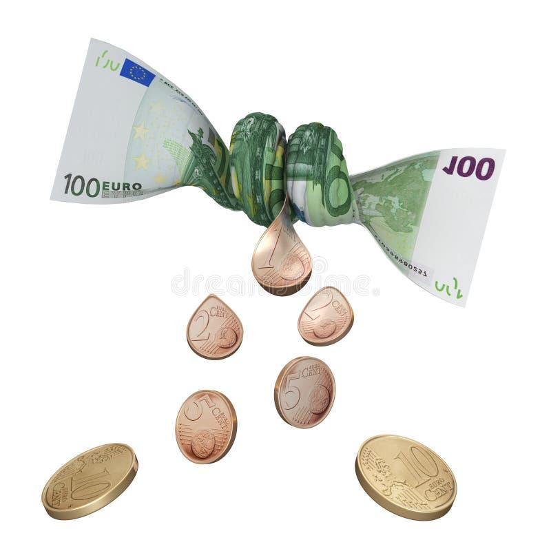 Centavo euro pasado ilustración del vector