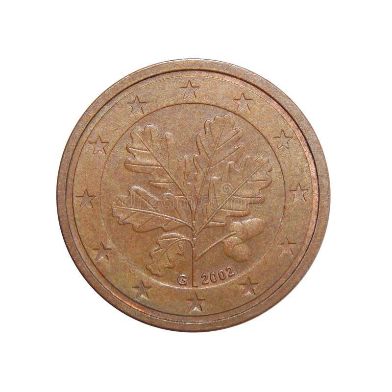 Centavos euro Alemania de la moneda 2 fotos de archivo libres de regalías