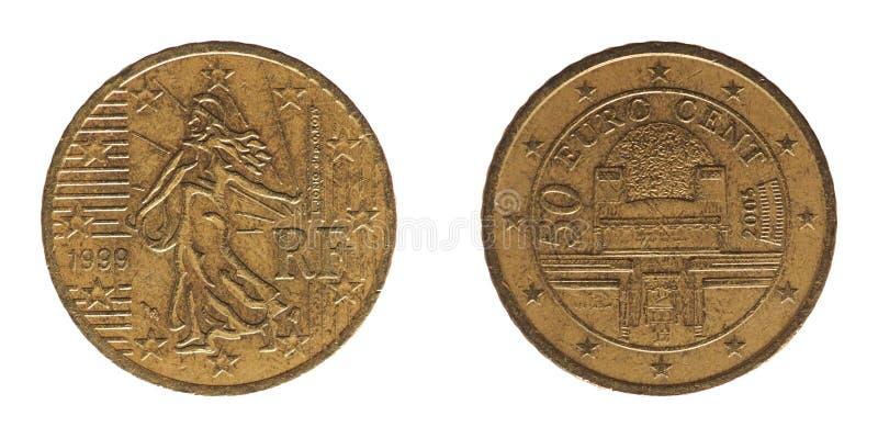 50 centavos inventam, França e Áustria, Europa imagens de stock