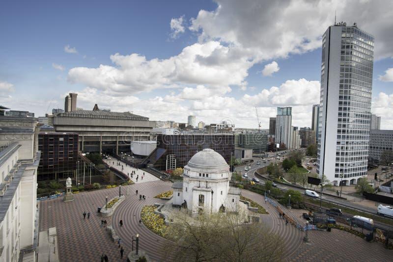 Centenário do centro da cidade de Birmingham quadrado fotografia de stock