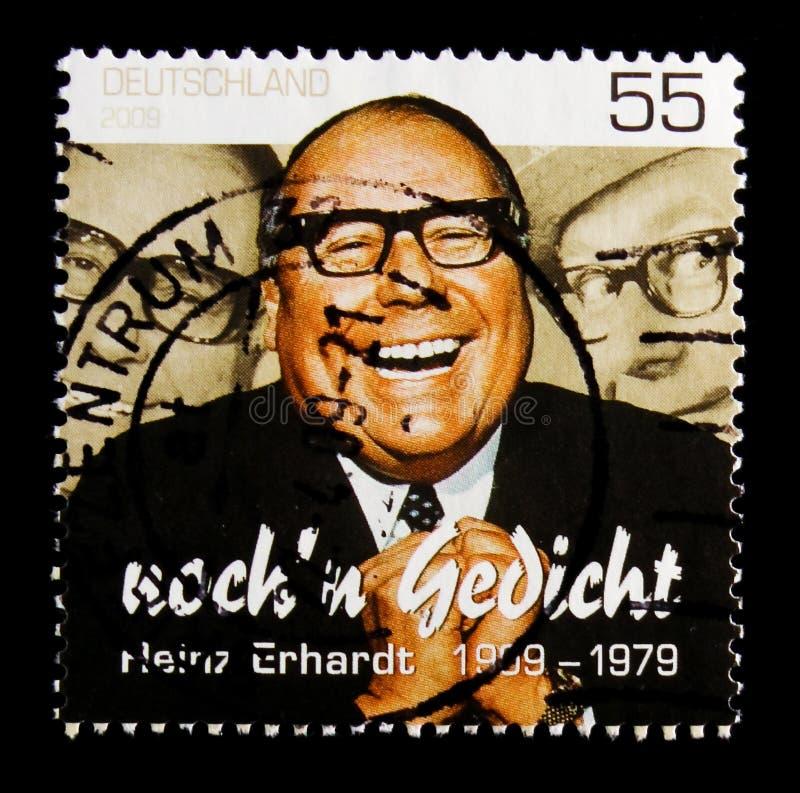 Centenário do nascimento de Heinz Erhardt, serie, cerca de 2009 foto de stock