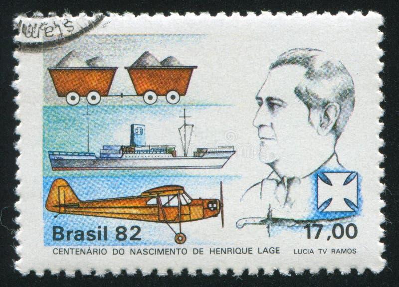 Centenaire de Henrique Lage illustration de vecteur