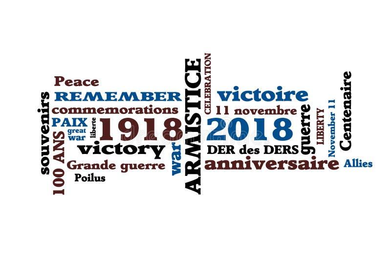Centenaire de l'armistice 1918 illustration libre de droits