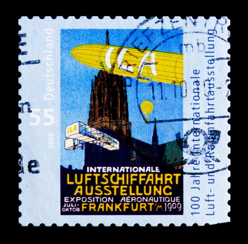 Centenaire de l'exposition aérospatiale internationale, serie, vers 2009 photo stock