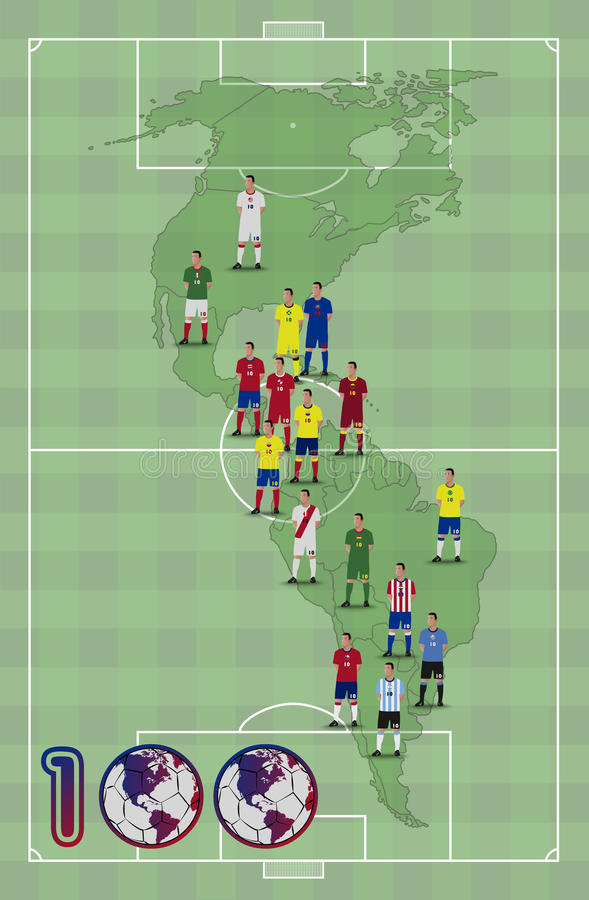 Centenaire du football de l'Amérique illustration stock