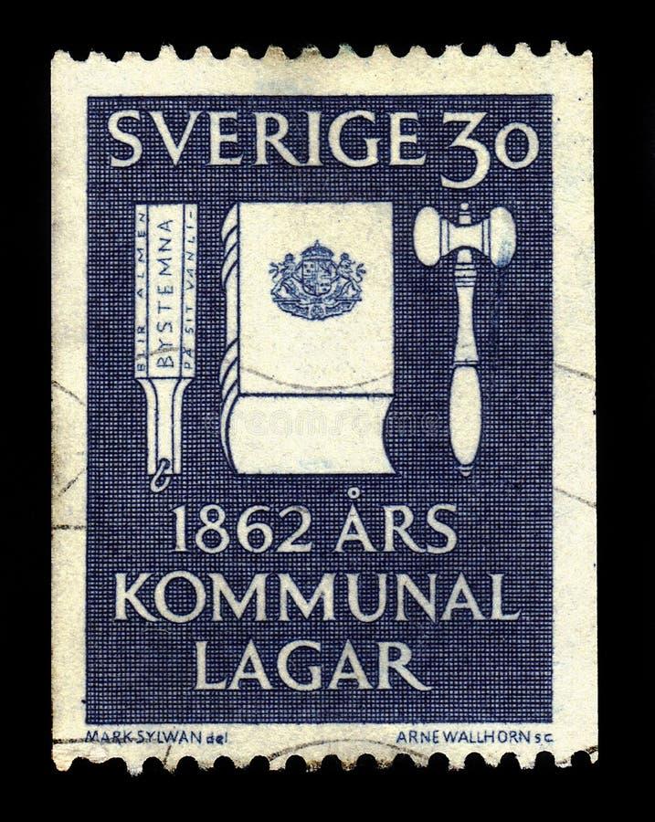 Centenario de las leyes municipales de la reforma en Suecia imágenes de archivo libres de regalías