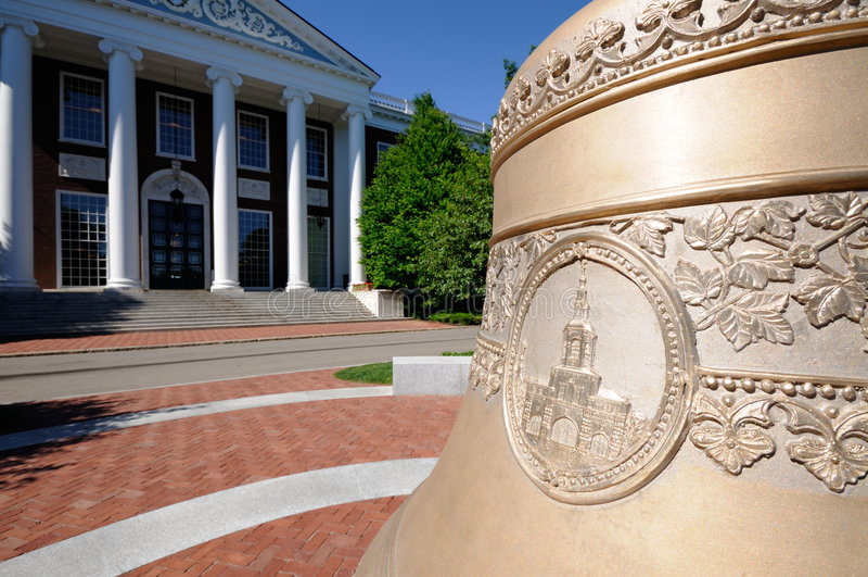 Centenial Bell at Harvard Business School stock photos
