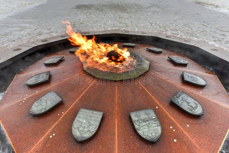 Centennial пламя Оттава стоковые фото