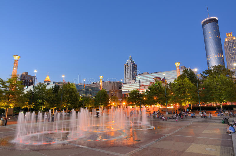 Download Centennial Olympic Park editorial photography. Image of centennial - 25109397