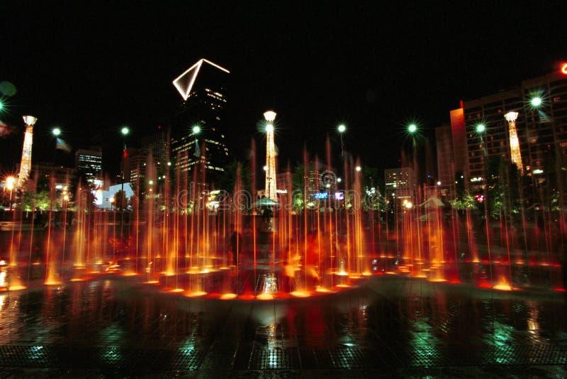 Centennial Parkowy Atlanta Gruzja obrazy royalty free