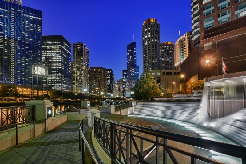centennial riverwalk фонтана стоковое изображение rf