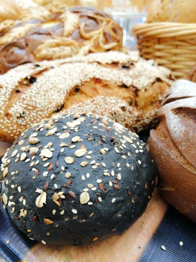 Centeno sano del trigo de la forma de vida de la salud del pan que cuece fotos de archivo