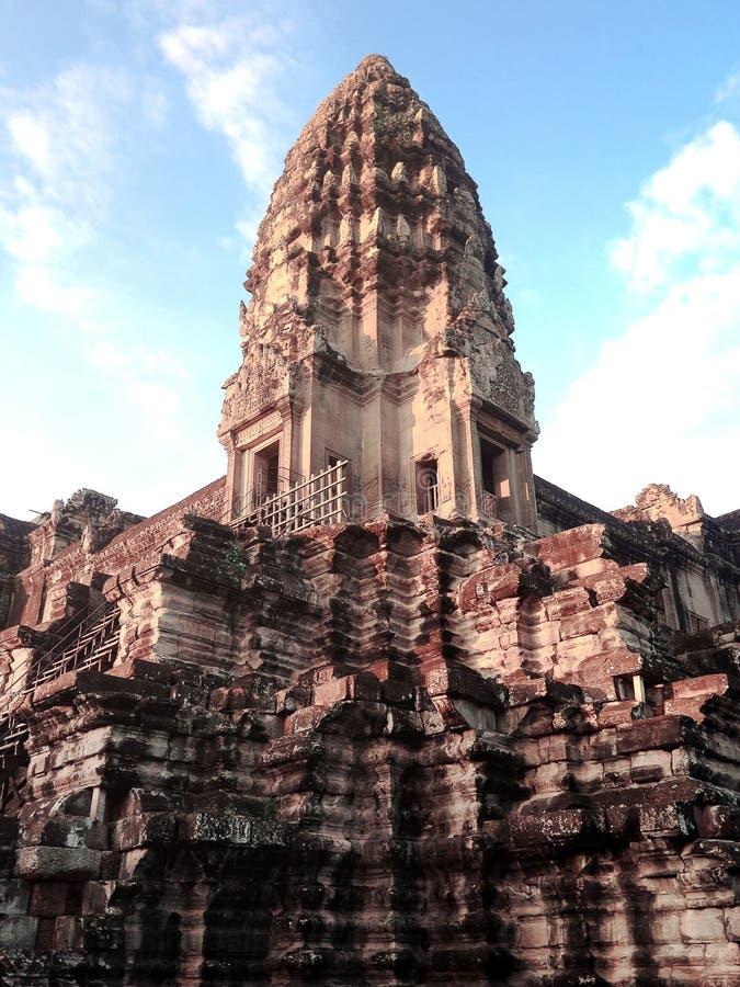 Center area of Angkor Wat. Siem Reap, Cambodia royalty free stock photo