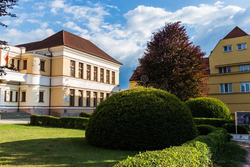 Center of Bechyne city, South Bohemia. stock photos
