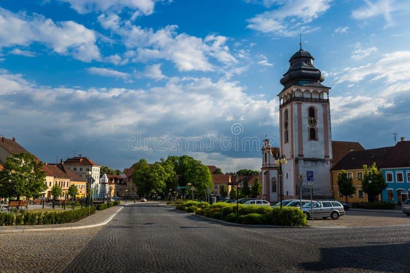 Center of Bechyne city, South Bohemia. royalty free stock photo