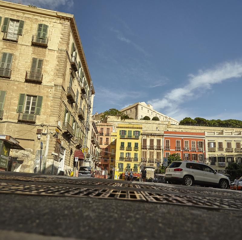 The center of Cagliari royalty free stock image
