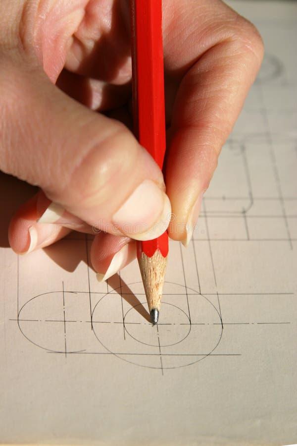 Download Center of a circle stock photo. Image of pencil, goal, circle - 57918