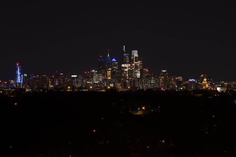 Center City Philadelphia Skyline at Night royalty free stock image