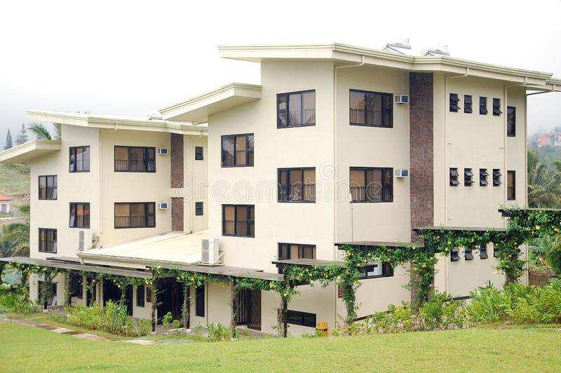 Center for Community Transformation CCT dormitory facade in Tagaytay, Cavite, Philippines. CAVITE, PH - OCT. 10: Center for Community Transformation CCT stock image