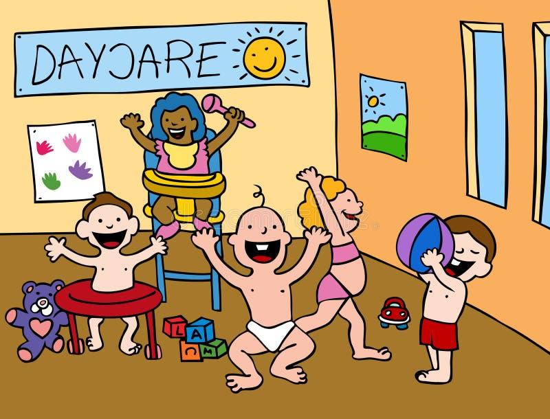 center daycare royaltyfri illustrationer