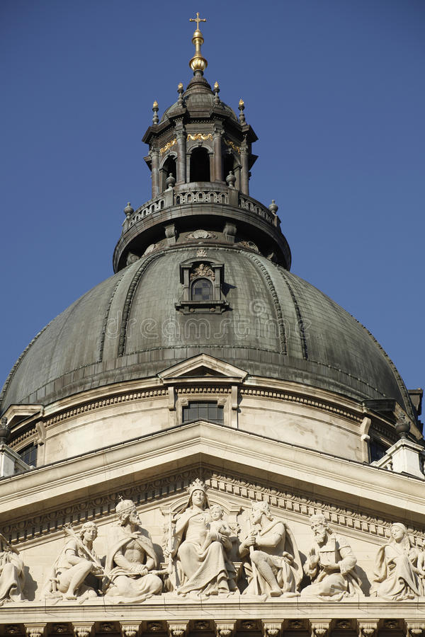 The center dome of St. Stephen (Szent Istv?n) Basilica in Budapest, Hungary. royalty free stock photo