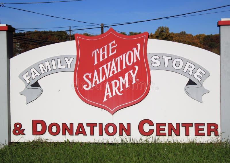 center donationräddning för armé royaltyfria foton