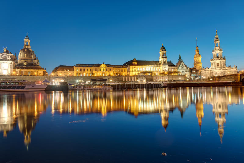 Download The Center Of Dresden At Dawn Stock Photo - Image: 83702480