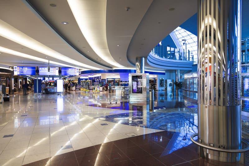 center dubai internationell shoping sikt arkivbild