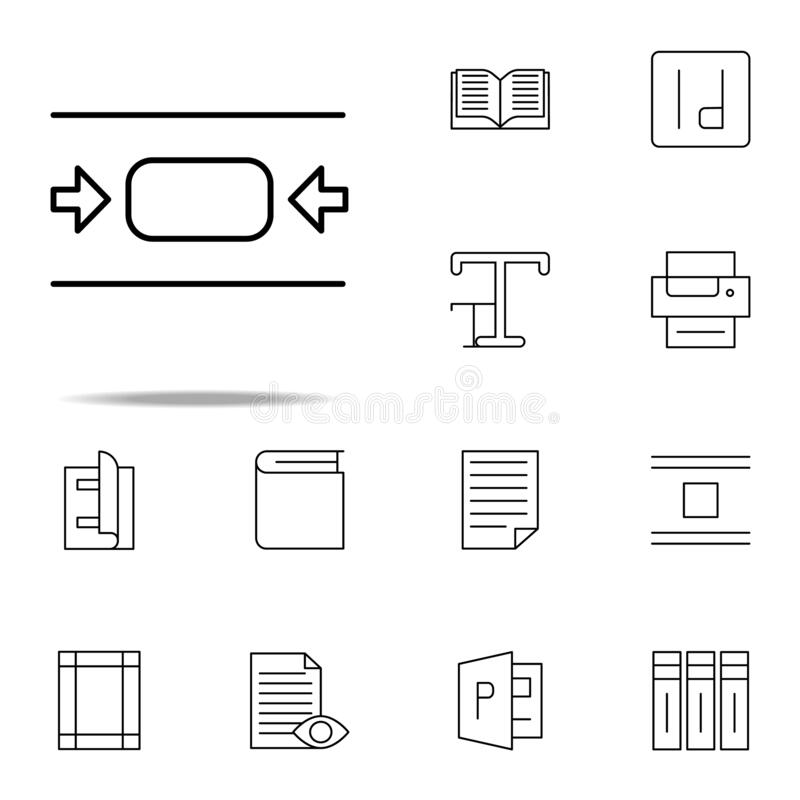 Center, editorial icon. editorial design icons universal set for web and mobile. On white background stock illustration
