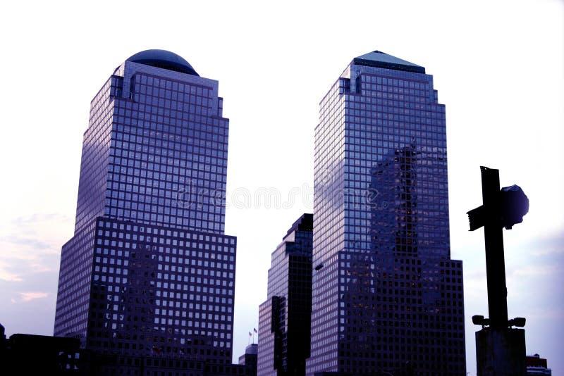 center finansiell ny värld arkivfoto