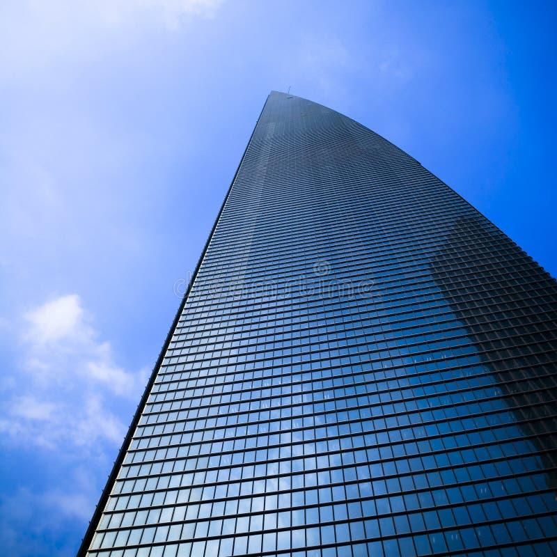 center finansiell shanghai värld royaltyfri bild