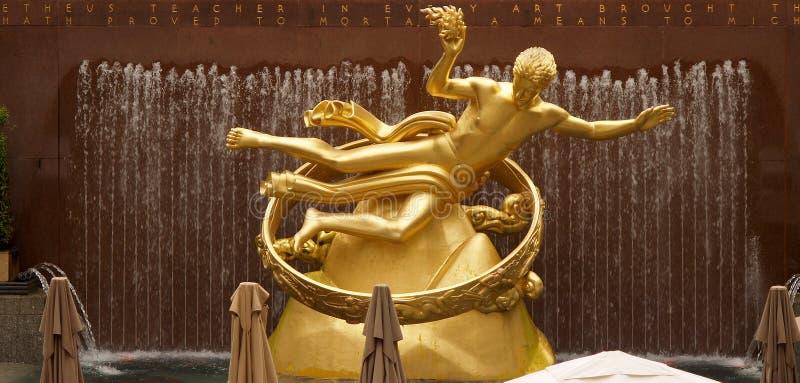 Center guld- prometheus-rockfellerstaty