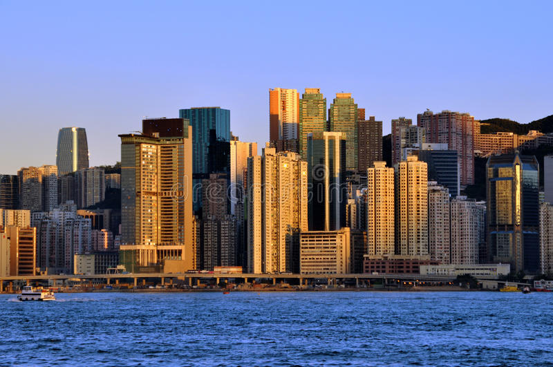 center hamn Hong Kong victoria arkivbild